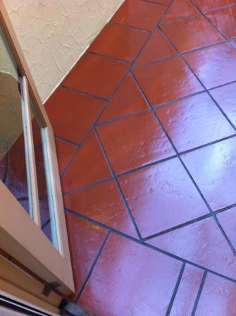 teracota tile after cleaning