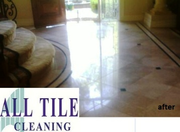 marble tile after polishing